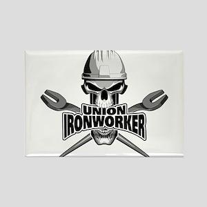 Union Ironworker Skull Magnets