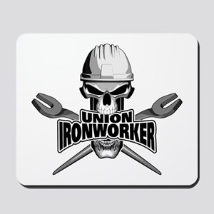 Union Ironworker Skull Mousepad