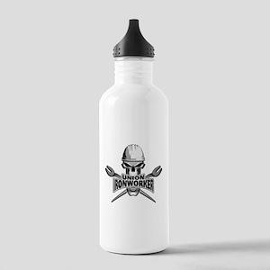 Union Ironworker Skull Water Bottle