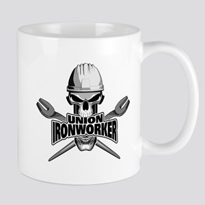 Union Ironworker Skull Mugs