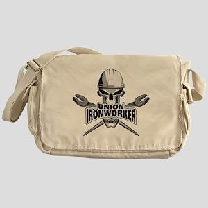 Union Ironworker Skull Messenger Bag