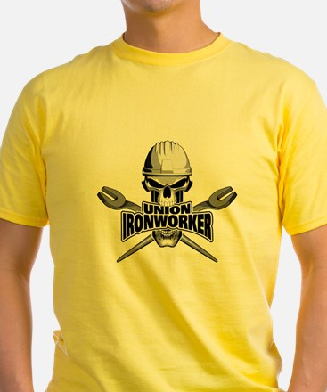 Union Ironworker Skull T-Shirt