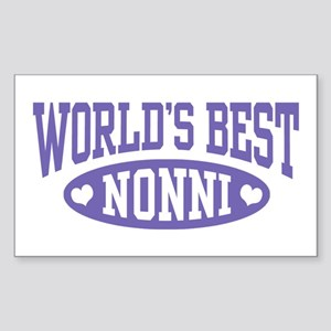 World's Best Nonni Sticker (Rectangle)