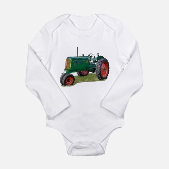 Funny Tractor pulls Long Sleeve Infant Bodysuit
