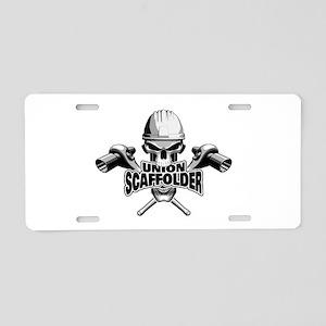 Union Scaffolder Skull Aluminum License Plate