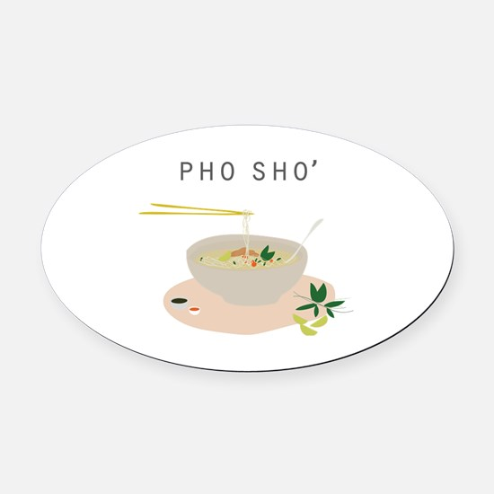 Cute Pho soup Oval Car Magnet