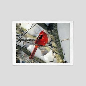 Snow Cardinal 5'x7'Area Rug