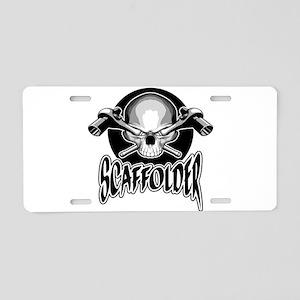 Scaffolder Skull Aluminum License Plate
