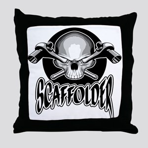 Scaffolder Skull Throw Pillow