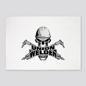 Union Welder Skull 5'x7'Area Rug