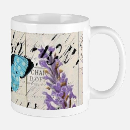 Floral butterfly paris Eiffel Tower Mugs