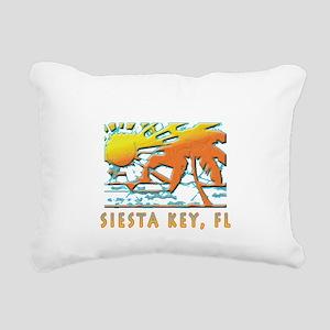 Siesta Key Beach Rectangular Canvas Pillow