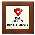 Diamond Is A Girl's Best Friend Framed Tile