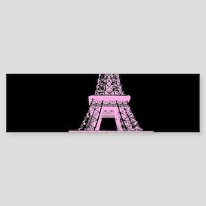 pink paris eiffel tower Bumper Sticker