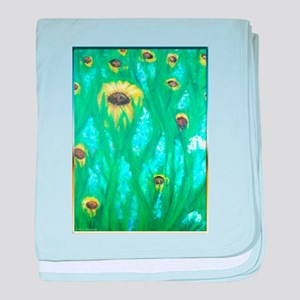 Flowers, summer fields, art baby blanket