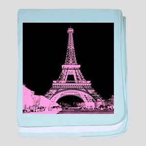 pink paris eiffel tower baby blanket