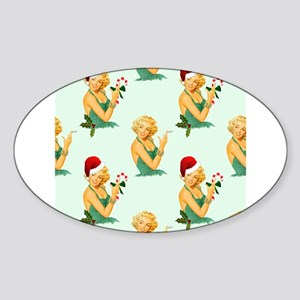 vintage pin up christmas Sticker