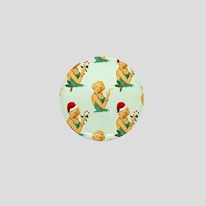 vintage pin up christmas Mini Button