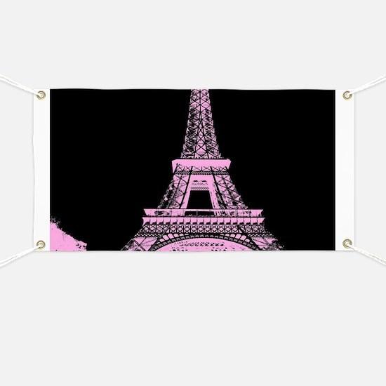 pink paris eiffel tower Banner