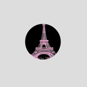 pink paris eiffel tower Mini Button