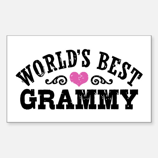 World's Best Grammy Ever Sticker (Rectangle)