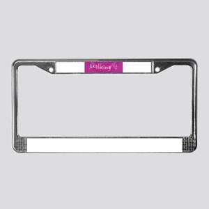 Milking It License Plate Frame