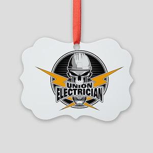 Union Electrician Skull Ornament