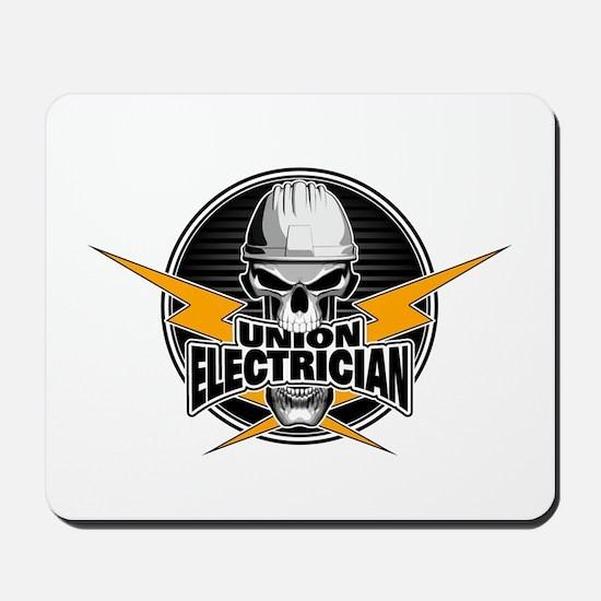 Union Electrician Skull Mousepad