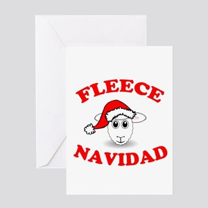 Fleece Navidad Greeting Cards