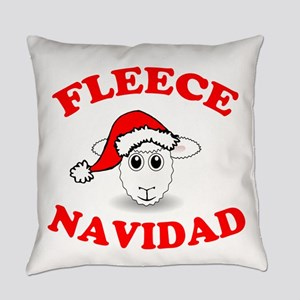 Fleece Navidad Everyday Pillow