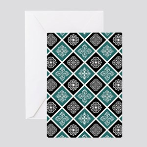 BOHO TILE Greeting Cards