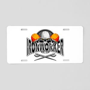 Ironworker Skulls Aluminum License Plate