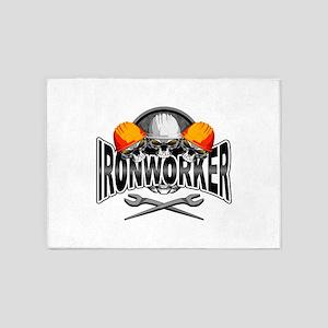 Ironworker Skulls 5'x7'Area Rug