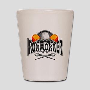 Ironworker Skulls Shot Glass