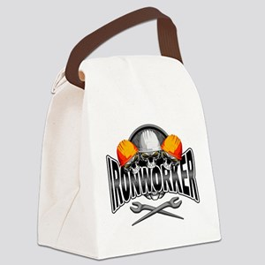 Ironworker Skulls Canvas Lunch Bag