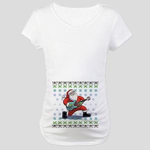 Santa Rockin' Ugly Maternity T-Shirt