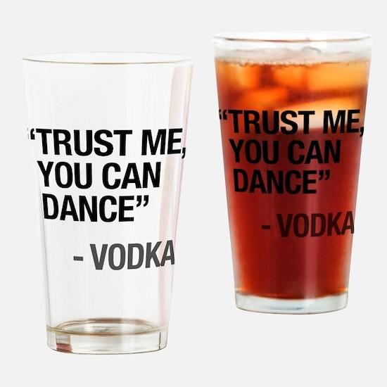 Cute Trust me Drinking Glass