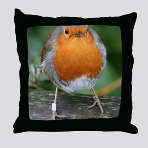 The Red Red Robin Throw Pillow