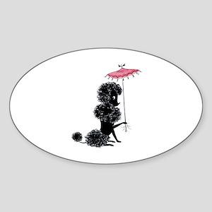 Pretty Polly Poodle - Sticker (Oval)