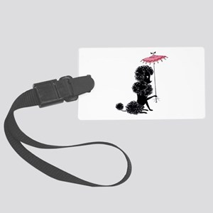 Pretty Polly Poodle - Large Luggage Tag