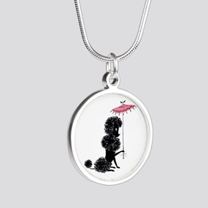 Pretty Polly Poodle - Silver Round Necklace