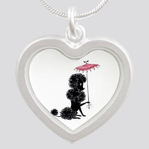 Pretty Polly Poodle - Silver Heart Necklace