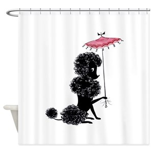 Poodle Shower Curtains