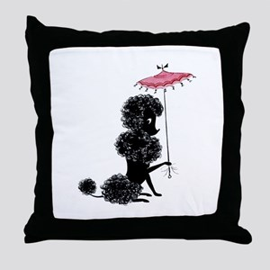 Pretty Polly Poodle - Throw Pillow