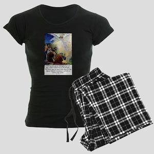 Angel Tidings of Great Joy Women's Dark Pajamas