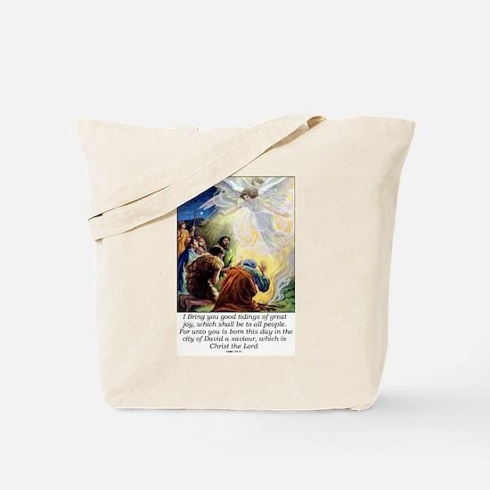 Angel Tidings of Great Joy Tote Bag