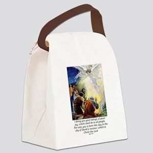 Angel Tidings of Great Joy Canvas Lunch Bag