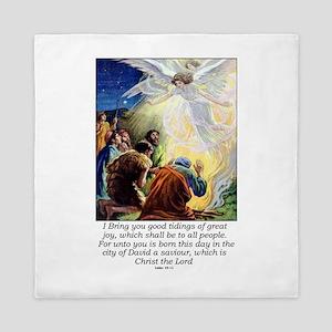 Angel Tidings of Great Joy Queen Duvet