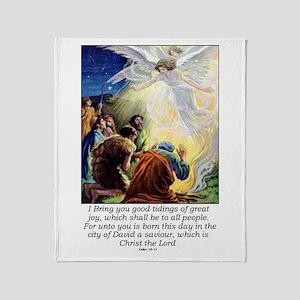 Angel Tidings of Great Joy Throw Blanket