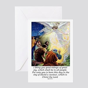 Angel Tidings of Great Joy Greeting Card